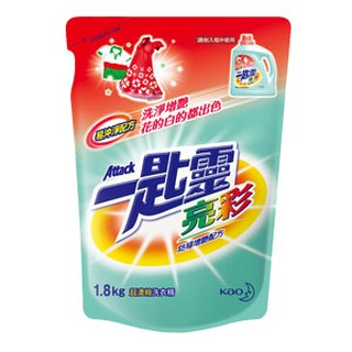 一匙靈 attack 亮彩 制菌 超濃縮洗衣精 補充包 1.8kg x6 臺北市