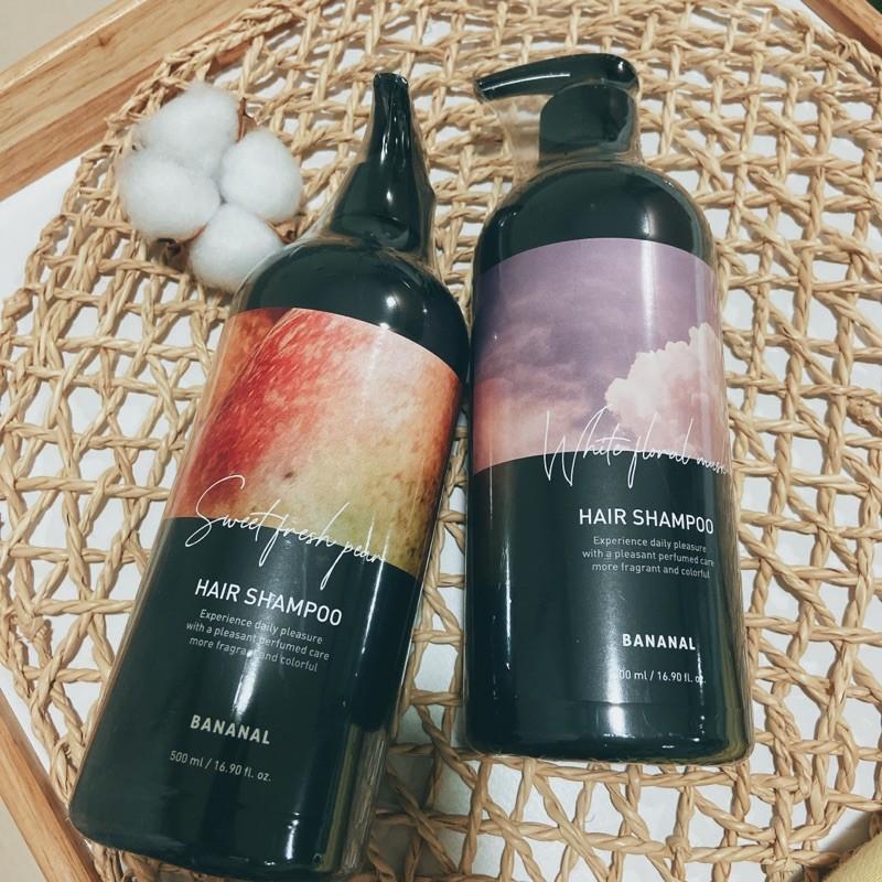韓國Bananal 胺基酸香氛洗髮精 香梨小蒼蘭/ 花漾白麝香