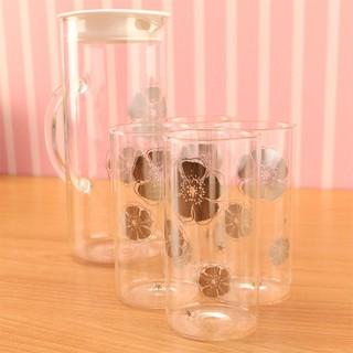 安琪冷熱兩用耐熱玻璃水杯組 (水壺1200ml+水杯350ml*4) 玻璃壺 冷水壺 茶壺 水壺(MF0363) 新北市