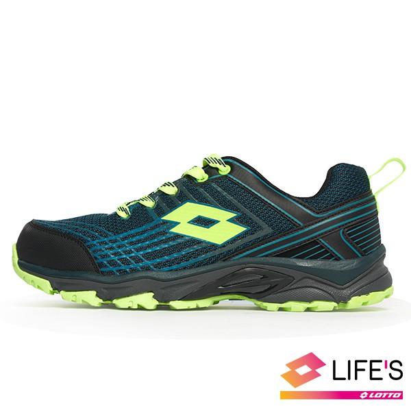 LOTTO JOURNEY 越野跑鞋 跑鞋 慢跑鞋 運動 路跑 越野 寬楦 專業鞋 藍綠色 男鞋 LT0AMR1765
