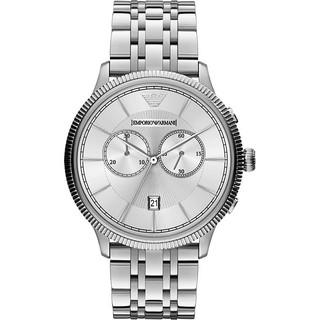 正品 ARMANI Classic 爵士時尚雙眼計時腕錶-43mm AR1796