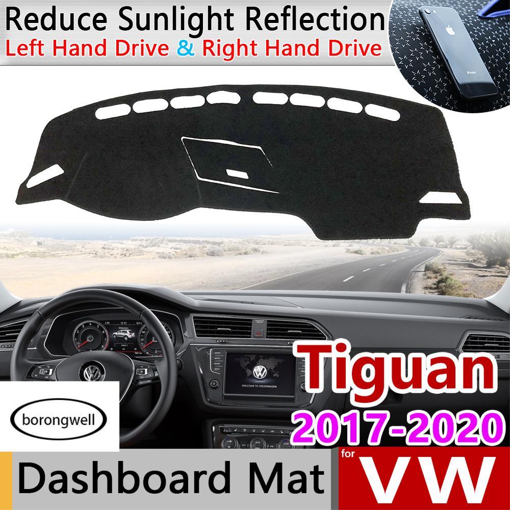 適用於大眾大眾Tiguan Mk2 2017 2018 2019 2020防滑墊儀表板蓋墊遮陽板儀表板地毯儀表板汽車配件