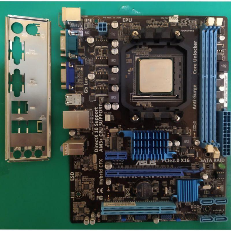 華碩 M5A78L-M LX3 PLUS主機板 /AMD FX-4100/4GB記憶體/附檔板/AM3+腳位