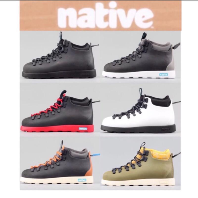 美國🇺🇸正品代購 Native shoes 輕量 馬汀鞋款 靴子 高筒休閒鞋 超輕量/防滑/防水 全黑 藝術 設計