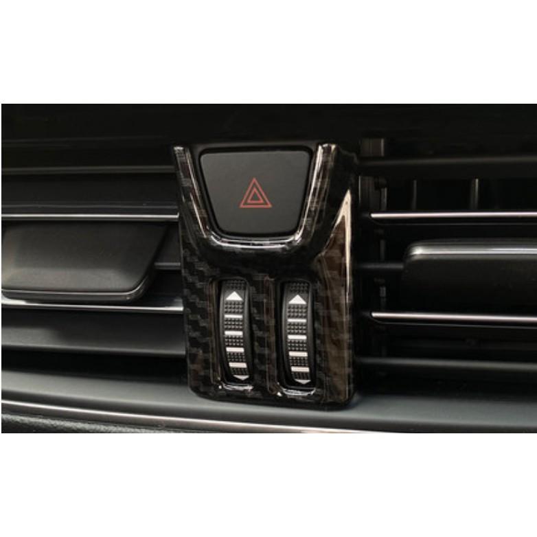 現貨可面交試合 19-20 FORD FOCUS MK4 KUGA 中控台 冷氣面板框 駐車燈 警示燈 仿碳纖維 卡夢