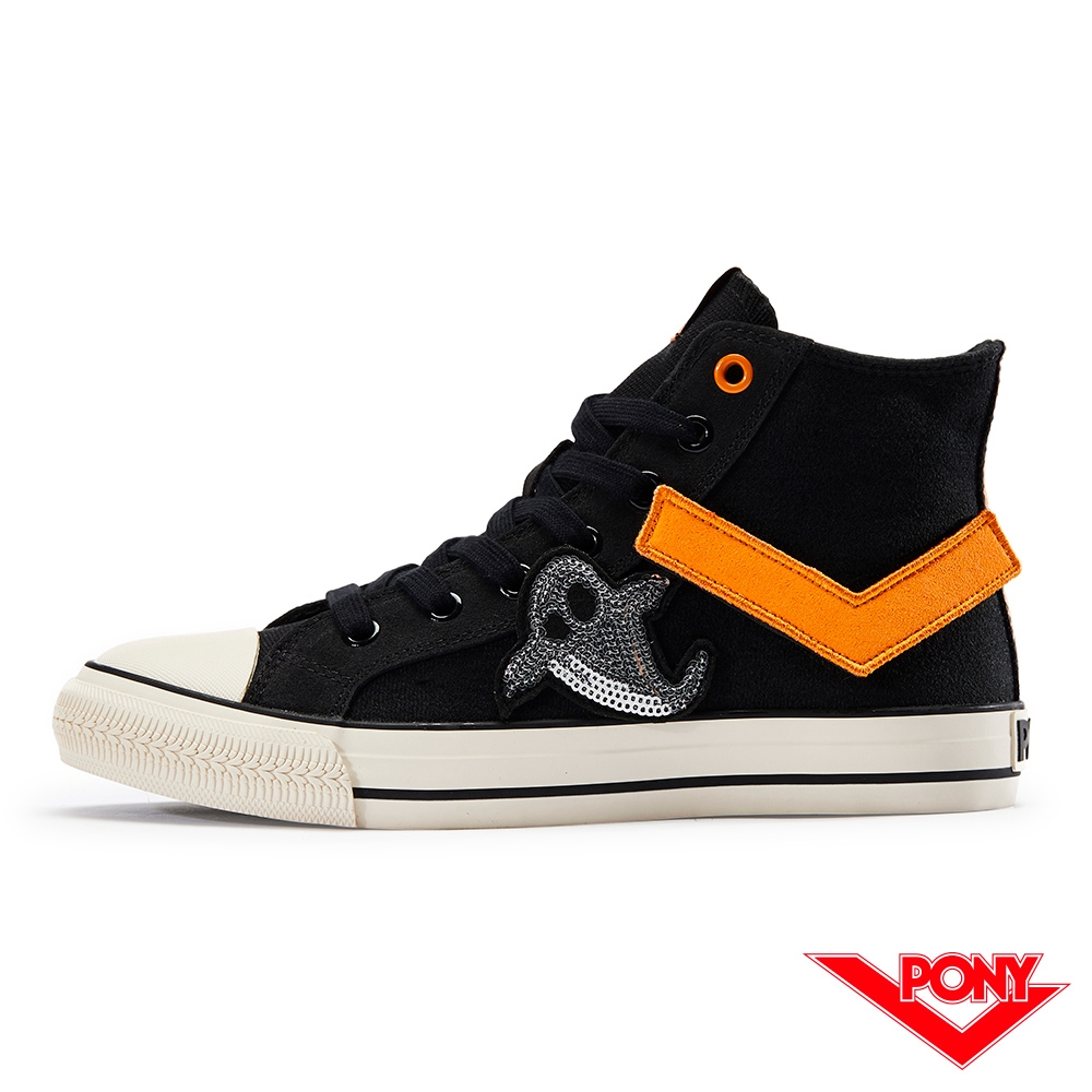 【PONY】Shooter系列低筒帆布鞋 中性 萬聖節限定款 黑色