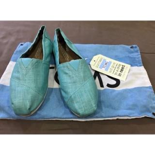 [全新]TOMS 湖水藍亮面女鞋 新北市