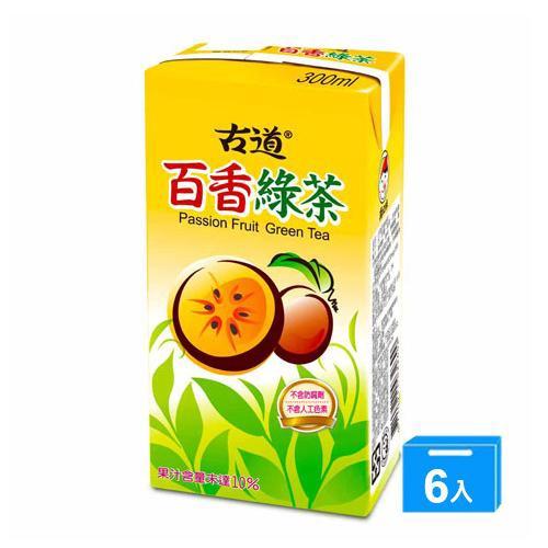 古道百香綠茶300ml*6【愛買】