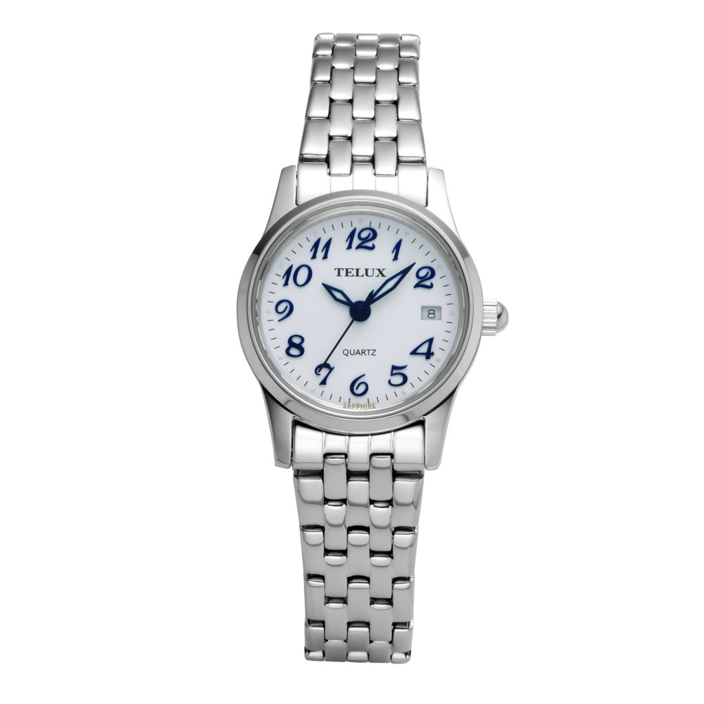 [缺貨中]台灣品牌手錶腕錶【TELUX鐵力士】見證系列女腕錶手錶21MM台灣製造石英錶7775W-W20白面數字另有男款