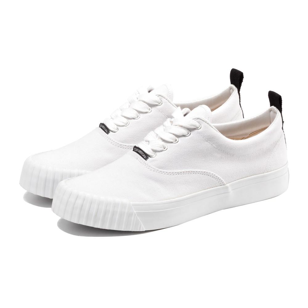 Y.A.S 經典綁帶休閒帆布鞋-白