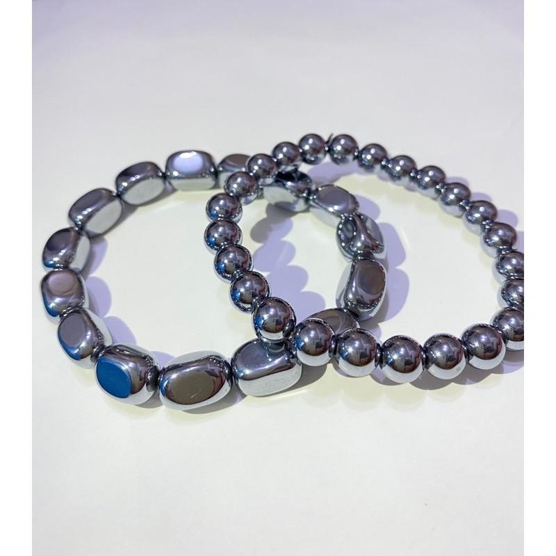 鈦赫茲 圓珠 手珠 手鍊 手串 繞3圈手珠/項鍊 (可融冰) 日本能量磁石