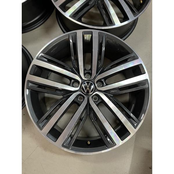 全新車拆下VW NEW TIGUAN原廠19吋鋁圈組 義大利製 5孔112 適用VW SKODA車係!