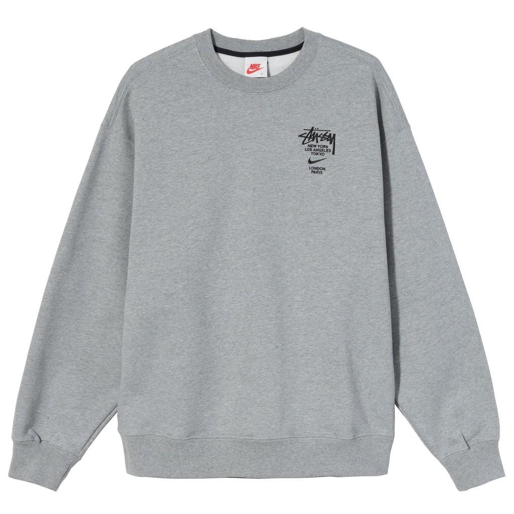 路克 Look👀 現貨 Stussy x Nike 衛衣 棉褲 聯名 灰色 大學T DC4199-050