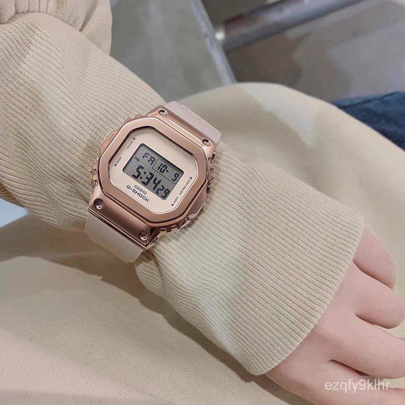 新款卡西歐G-SHOCK復古金屬方形手錶運動女錶 GM-S5600-1 G-7 PG-1 -4 U6HZ