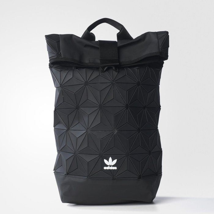 【Simple】ADIDAS 3D Roll Top Backpack 三宅一生黑 白 菱格 限量 後背包