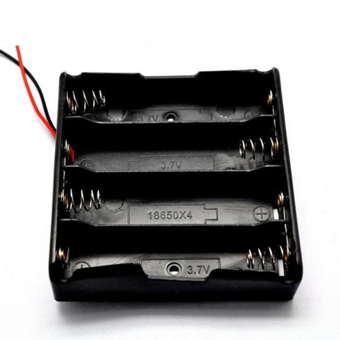 18650電池盒18650電池座(不含蓋) 4節串聯 電池盒 行動電源【DY354】