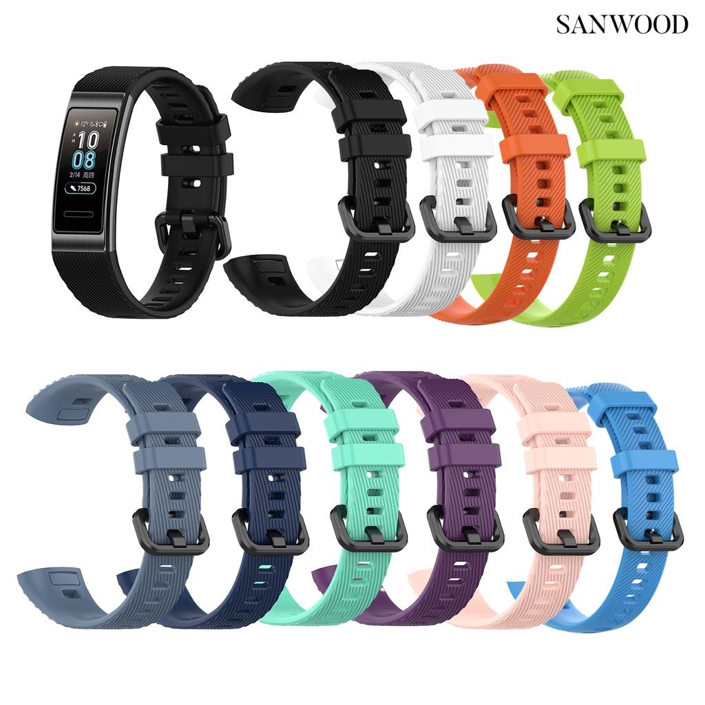sanwood適用於華為手環4 pro華為band 3/華為3pro錶帶智能手錶手錶腕帶