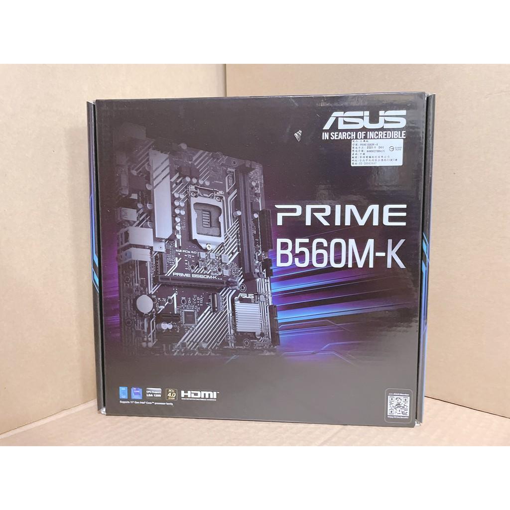 【全新未拆】ASUS PRIME B560M-K主機板(註冊四年保)非礦渣 限量價格