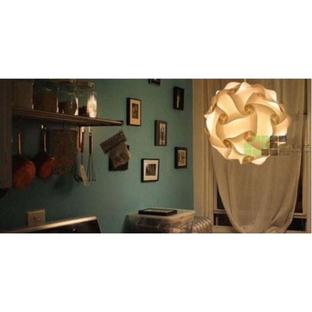 【 SUN LIGHT 日光燈坊】北歐設計30公分IQ LIGHT奶白繡球吊燈
