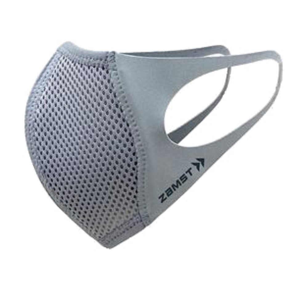 買口罩送束口袋 ZAMST Mouth Cover(銀灰)運動口罩 台灣獨家販售 (非醫療)(衛生用品不可退貨)(一入)