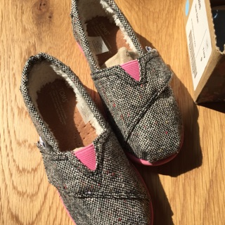 TOMS 女童秋冬內刷毛鞋