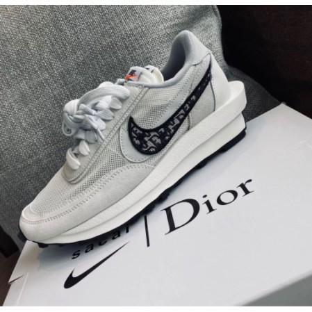 全新AD-Nike x Sacai x Dior 聯名 20 白灰 休閒鞋