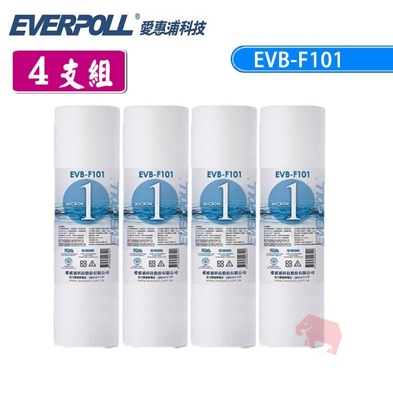 【愛惠浦科技】 EVB-F101 1微米PP濾芯 10吋 (4支組) 象寶淨水