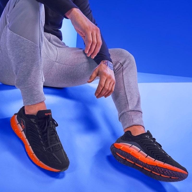 DY• REEBOK ZIG KINETICA 黑橘 慢跑鞋 編織感 回彈 緩震 透氣 舒適 男款 EH1724