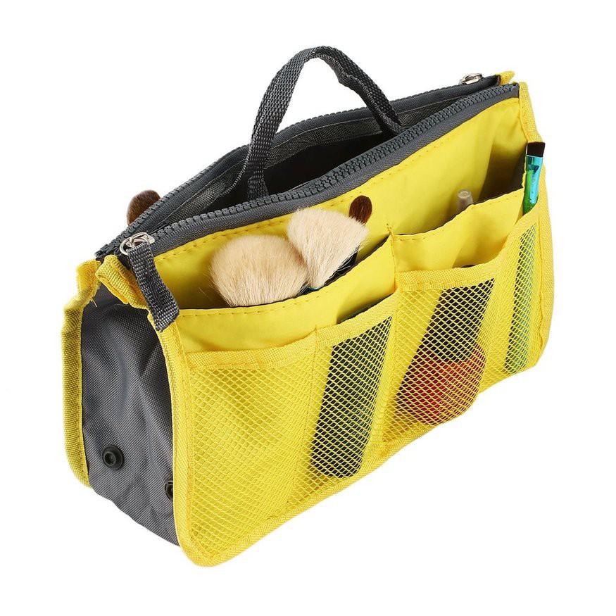 多色選 雙拉鍊 旅行 包中包 收納袋 化妝包 旅行收納袋 摺疊行李袋 韓版雙拉鏈多功能洗漱用品整理包 整理收納袋 潮可