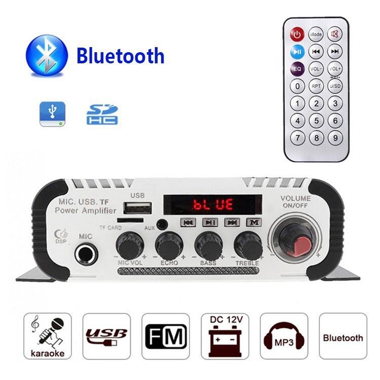 ~現貨~卡拉OK ECHO 擴大機 電腦 手機 家用/車載 藍芽USB記憶體卡 收音 書架音箱擴大機 HY-V11
