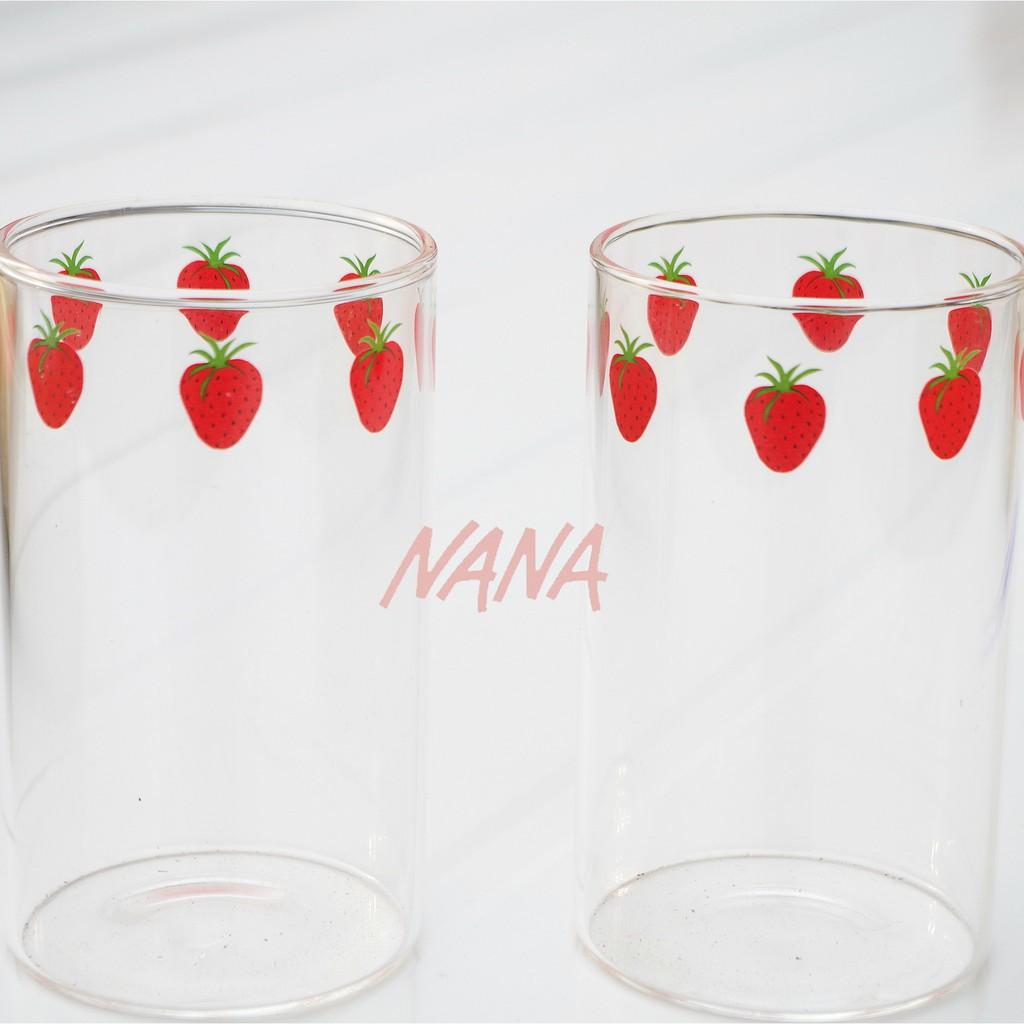 超優惠~漫畫版NANA草莓玻璃杯 高硼硅耐熱玻璃 可愛草莓牛奶杯 漫畫周邊