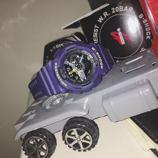 (新現貨) (卡西歐) 手錶 G-Shock 系列男士防震運動手錶自動 Led 照明石英手錶 Ga-110-1A Gsh