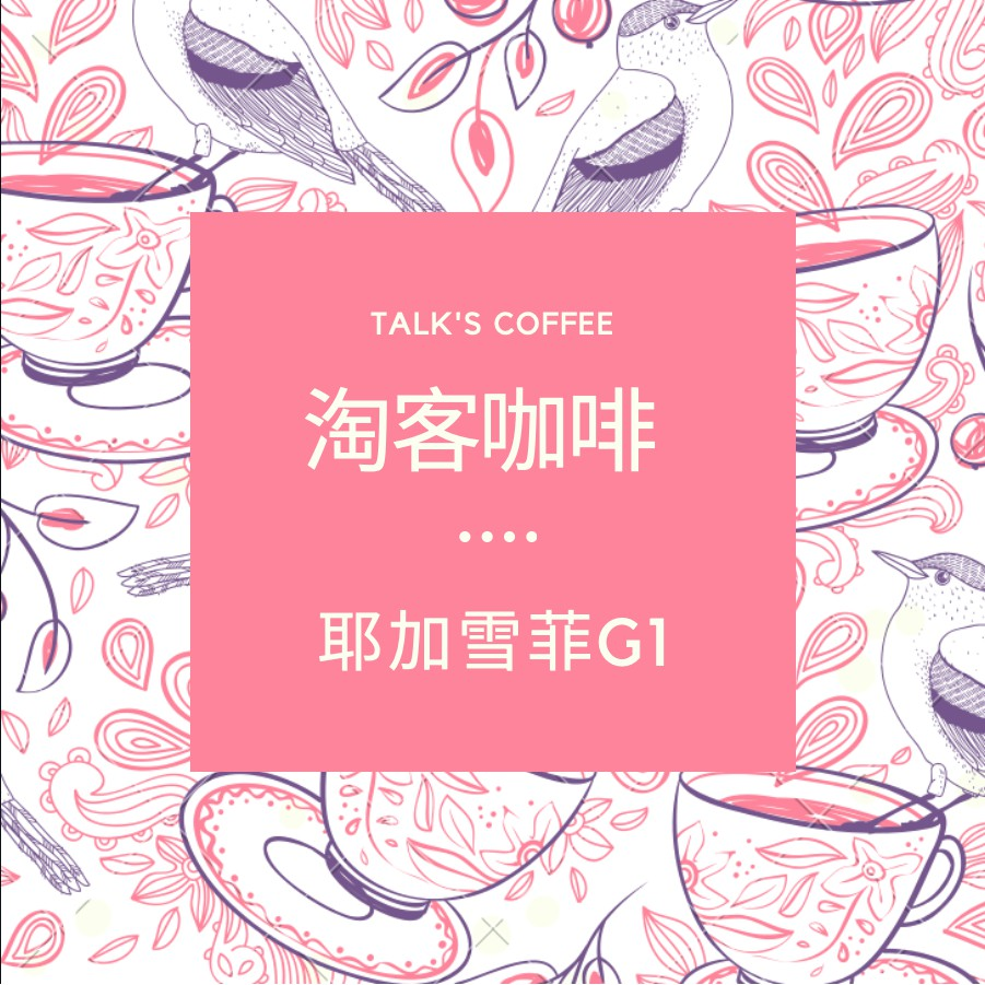 精品等級!淘客咖啡 耶加雪菲G1咖啡豆 450g