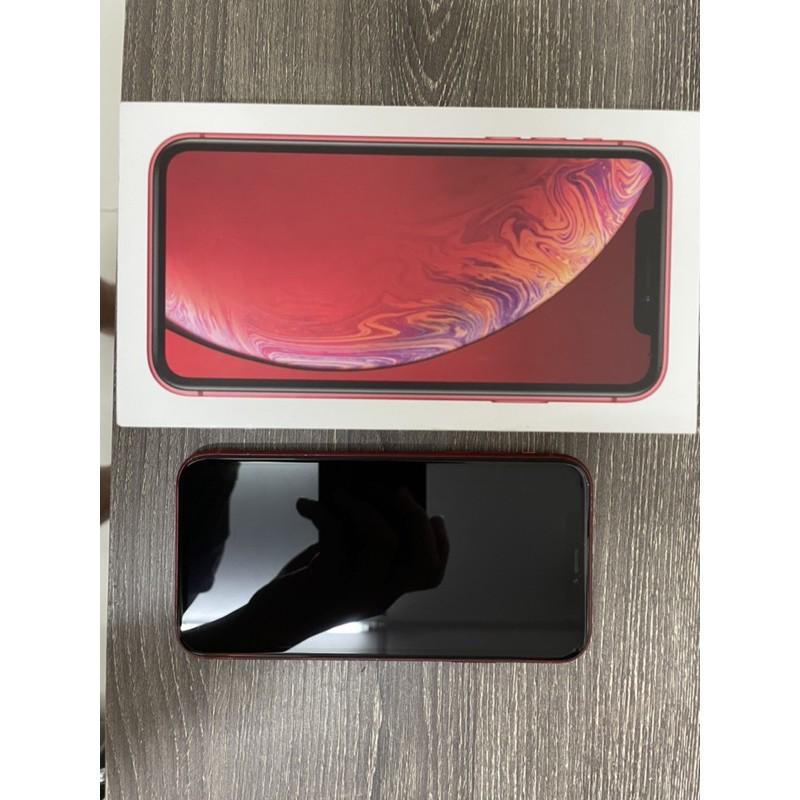 二手 iPhone XR 64G 紅色 臉部辨識正常 自售 有盒裝