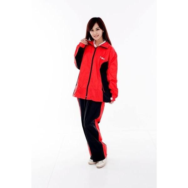 M2R雨衣,二件式 套裝式 風雨衣 M7/黑紅