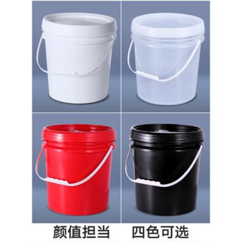 #儲水桶 #塑膠桶 #水桶 #食品級塑膠桶 加厚食品級塑膠桶密封桶帶蓋手提水桶透明小桶冰粉桶醬料商用桶5L