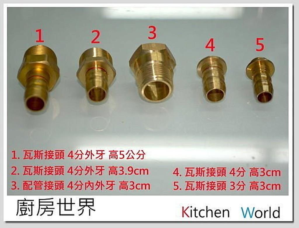 高雄 熱水器零件 銅製內牙、外牙/熱水器瓦斯接頭【KW廚房世界】