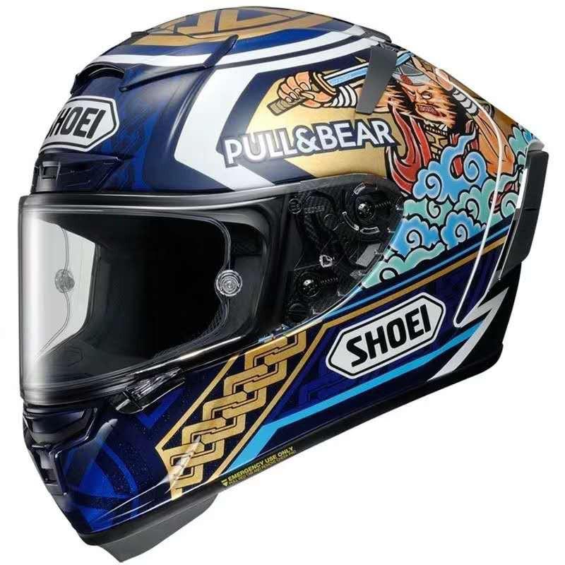日本SHOEI X14摩托車頭盔招財貓二代 紅螞蟻防霧跑車賽車全盔公路盔男#agv頭盔