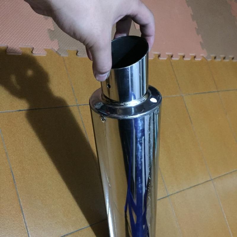 白鐵 排氣管 含消音塞