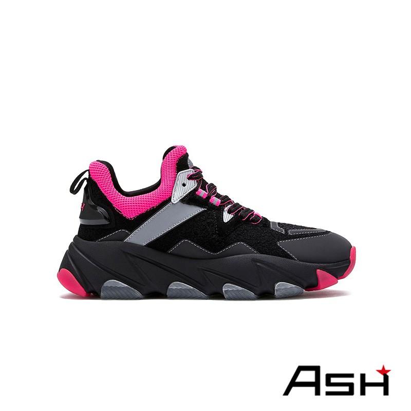ASH ENERGY 潮流增高運動老爹鞋 黑紅色