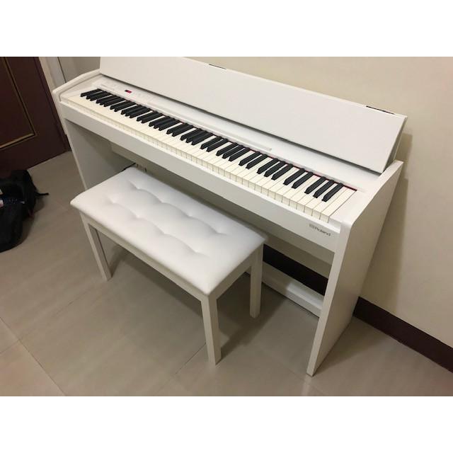 平行輸入 Roland F-140R 88鍵電鋼琴 鋼琴 電子琴 黑白兩色可選贈品含琴椅耳機木架踏板台中以北到府安裝二手