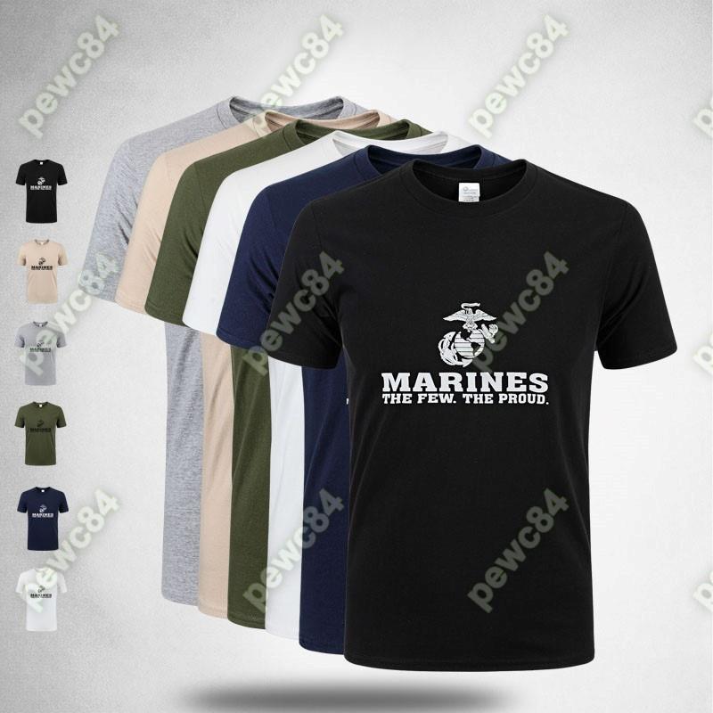 【戶外戰術裝備】US MARINES新款男款男式軍迷短袖T恤全棉吸汗透氣 海軍陸戰隊 6色