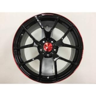 MAHOM 18吋5/ 108亮黑陽極紅邊鋁圈 價格標示88非實際售價 洽詢優惠中