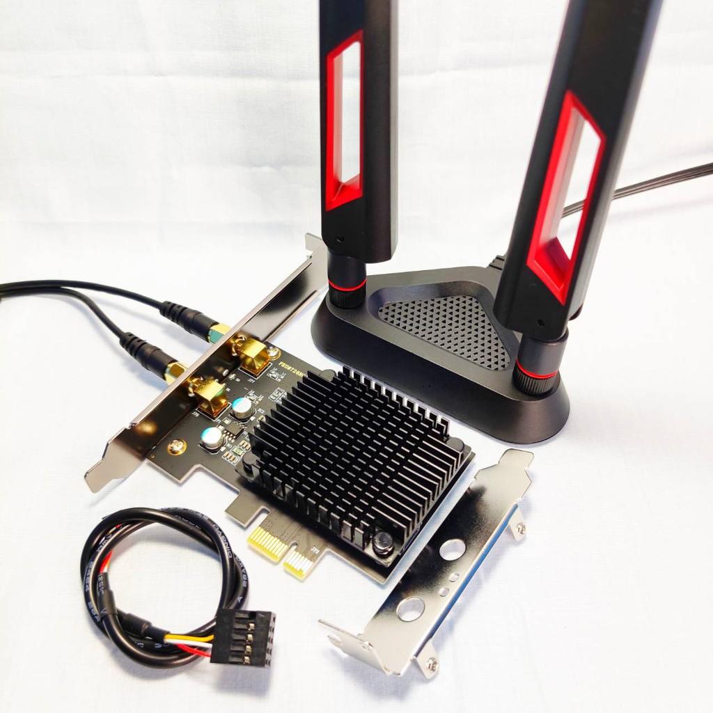 (電競散熱版) Intel AX210 AX200 WiFi6 6E桌上型電腦無線網路卡 藍牙5.1 5.2 PCIE