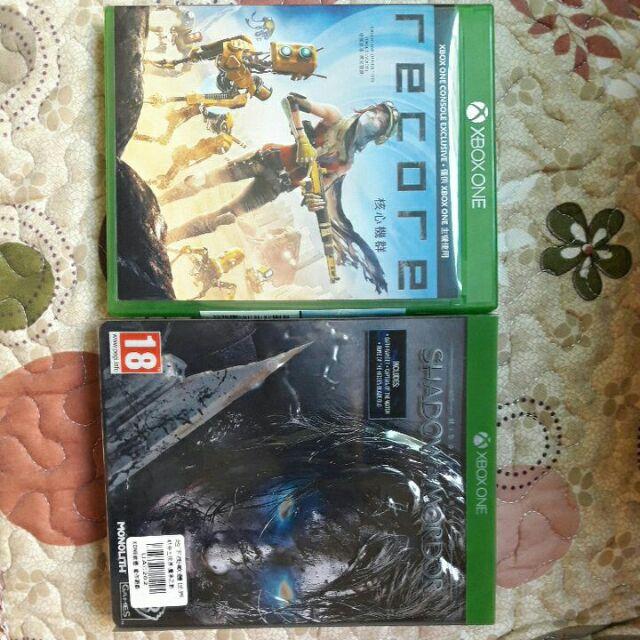 二手Xbox one遊戲 Recore 中土世界魔多之影