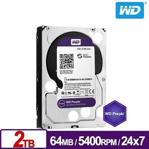 WD 紫標 2TB 2T 3.5吋 監控硬碟(WD20PURZ)
