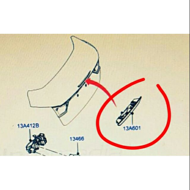 汽材小舖 正廠 FOCUS 13- MK3 四門 五門 第三煞車燈 煞車燈 後蓋煞車燈 警示燈 後燈 另有 ESCAPE