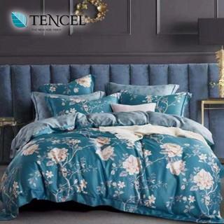 60支100%純天絲TENCEL【雙人 加大 特大組合】規格可選  兩用被床包四件組 七件式鋪棉床罩組 山間的風 台中市