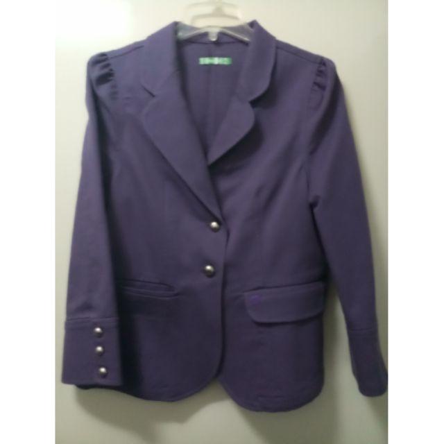 OL百搭優質紫色外套