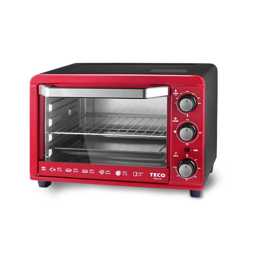 TECO東元 20L電烤箱(紅) YB2011CB TE-YB2011CB 廠商直送 現貨